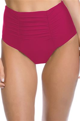 Shirred High Waist Bikini Bottom