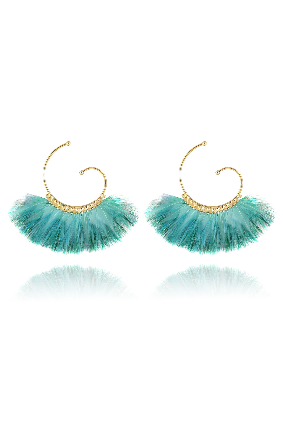 Buzios Feather Earrings - Turquoise 3