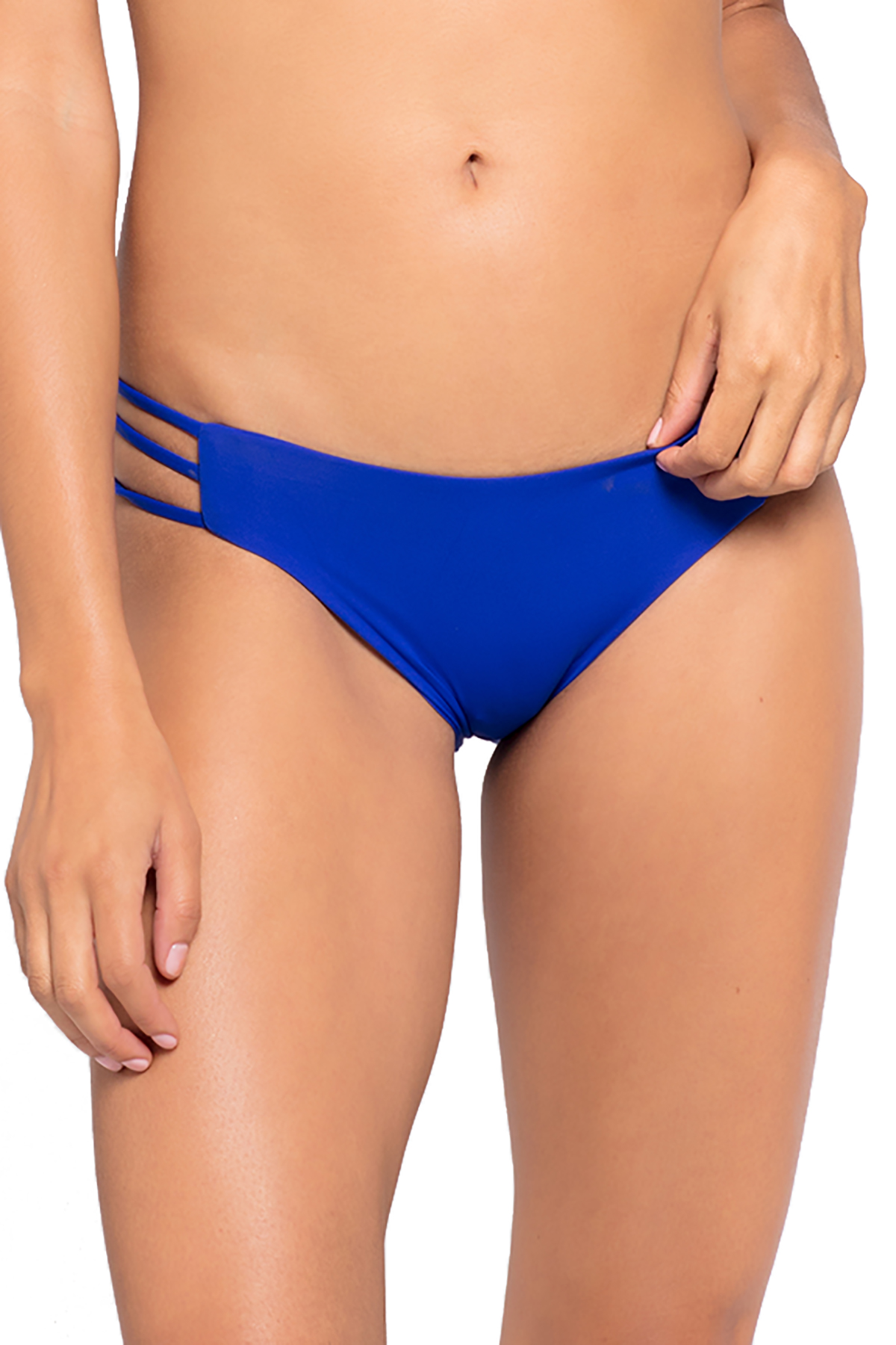 Kennedy Multi Strap Tab Side Hipster Bikini Bottom - Marine 9