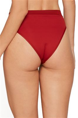 Frenchi Ribbed Cheeky High Waist Bikini Bottom