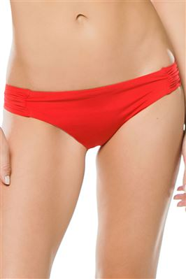Shirred Tab Side Hipster Bikini Bottom