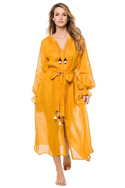 Mid Length Dress - Yellow - M
