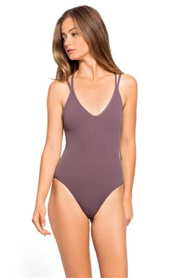 Classic Plunge Over The Shoulder One Piece Swimsuit