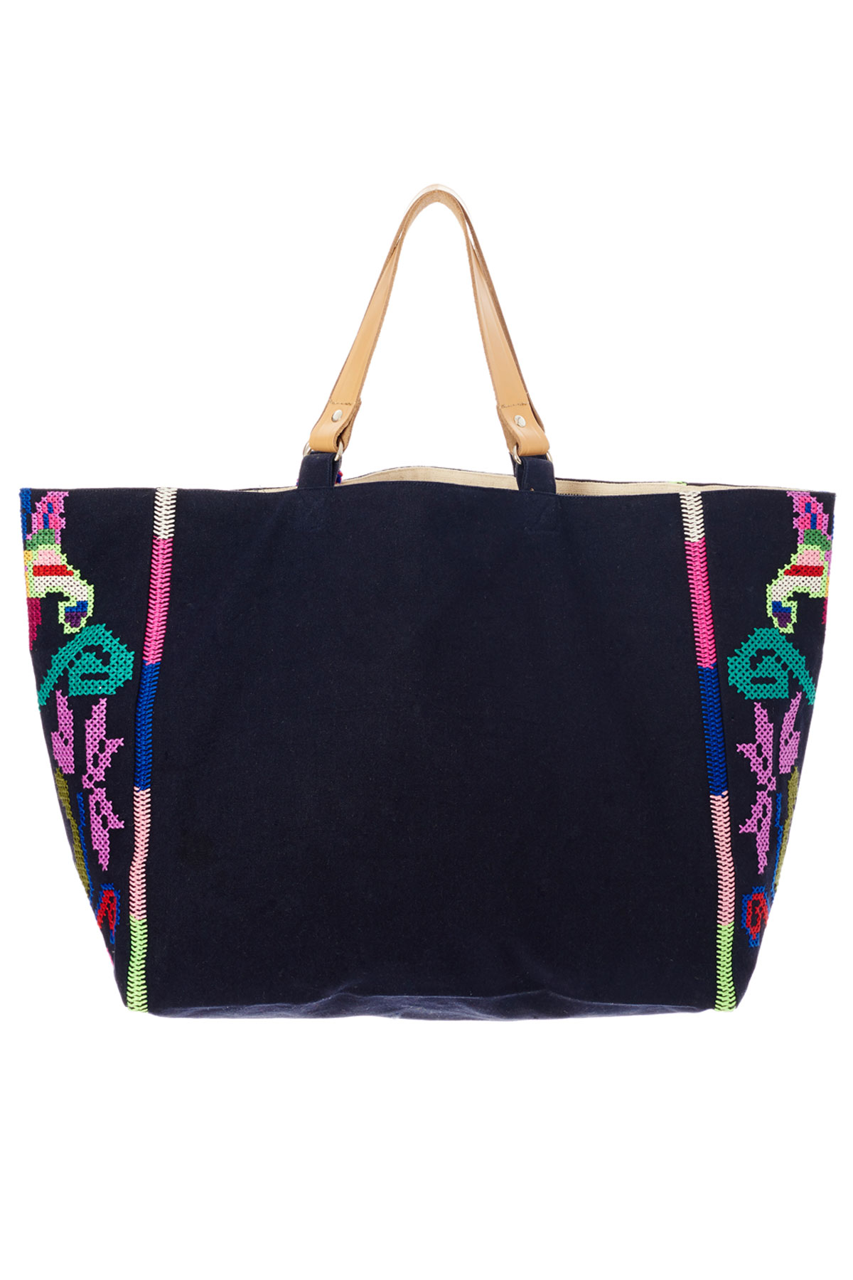 Vita Mexican Inspired Tote - Navy/Multi 2