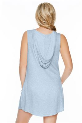 Lace-Up Tank Dress Hoodie