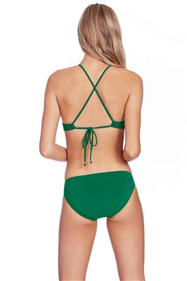 Keyhole Front X-Back High Neck Bikini Top