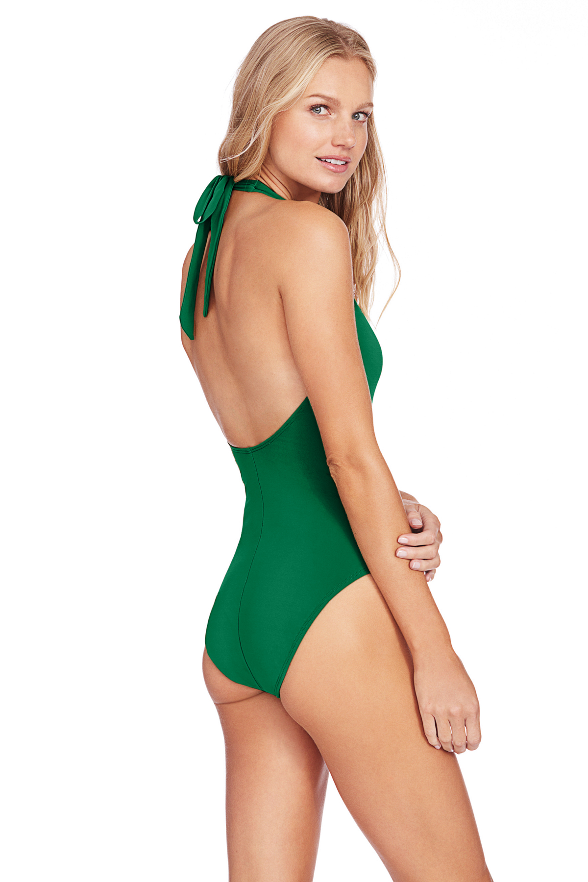 Plunge Halter One Piece Swimsuit  - Clover 4