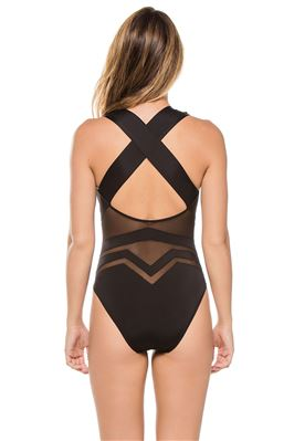 Bane Plunge Over The Shoulder One Piece Swimsuit