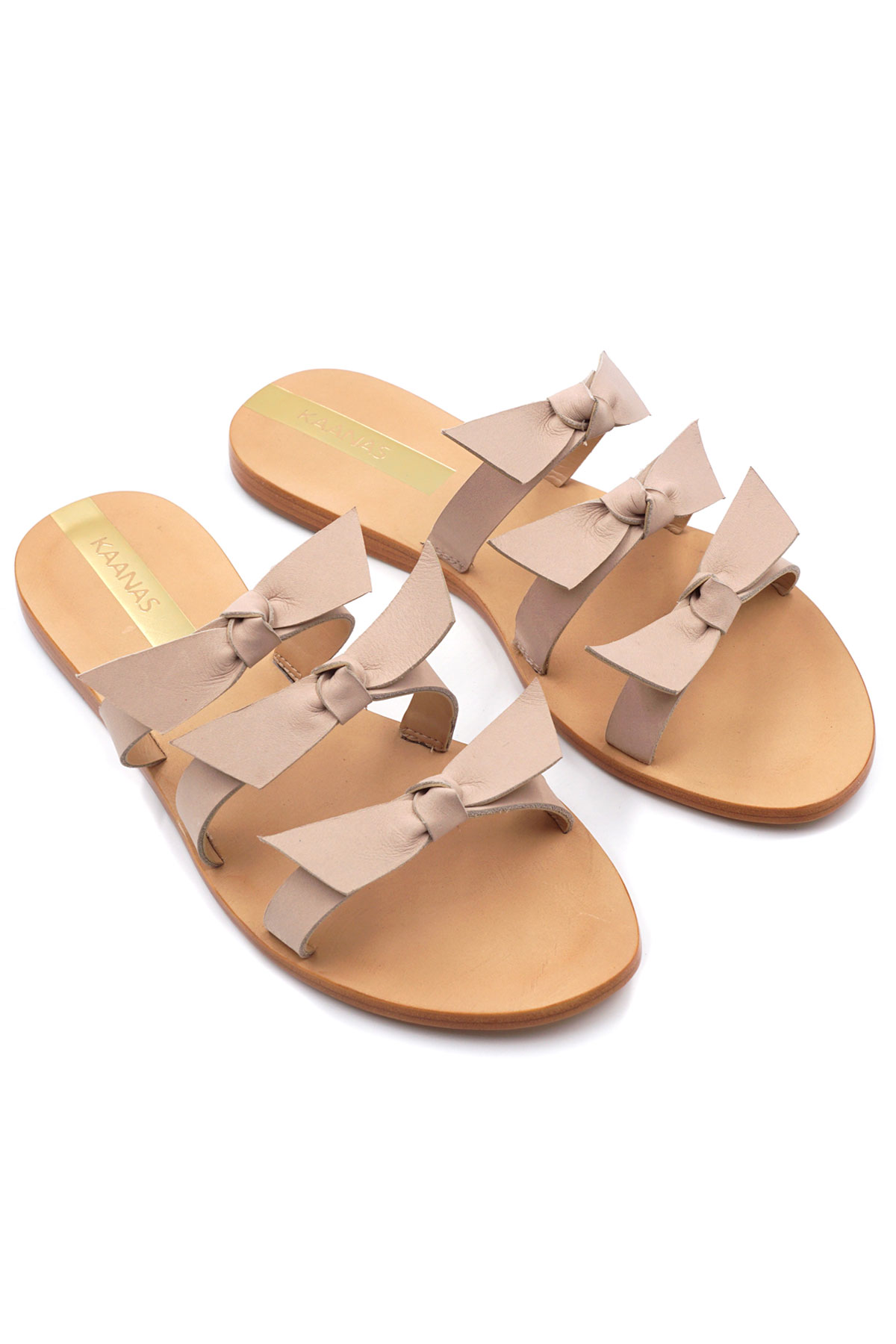 Recife Bow Slides - Nude 1