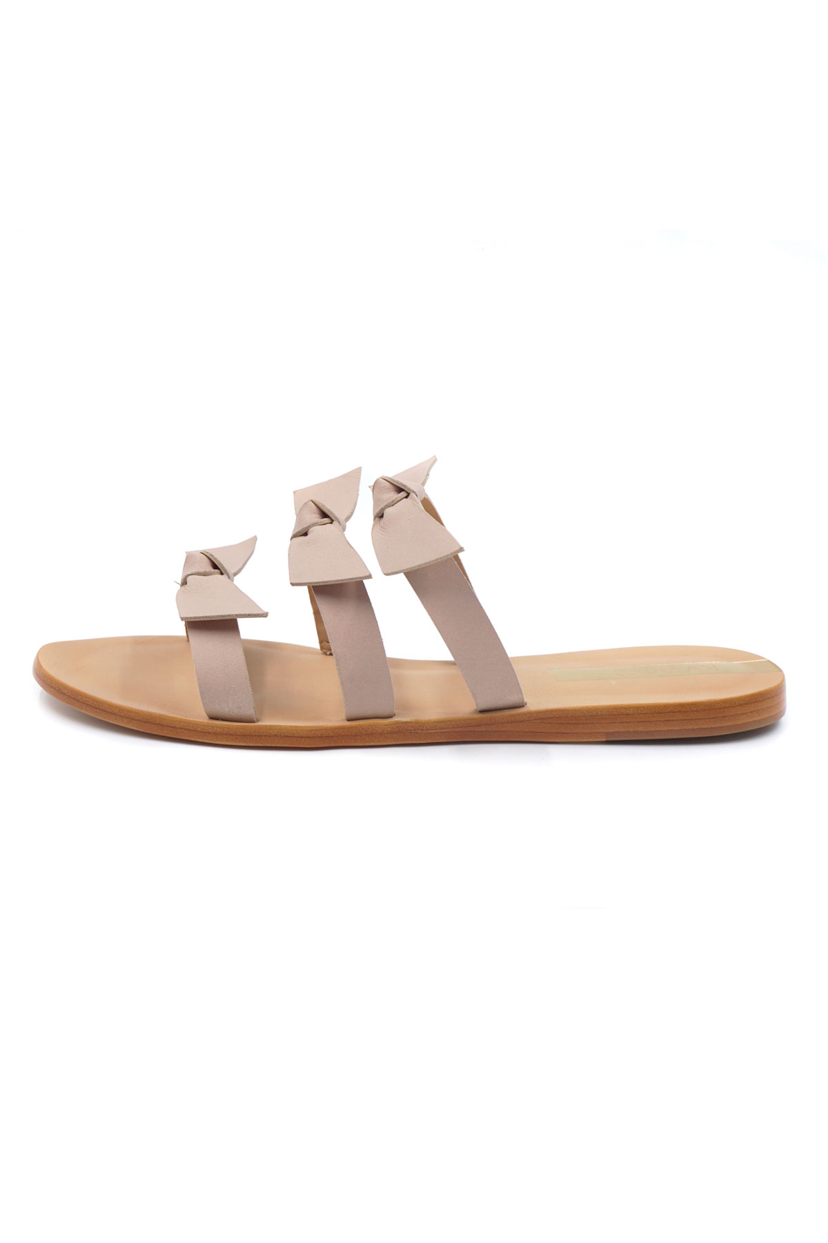 Recife Bow Slides - Nude 2