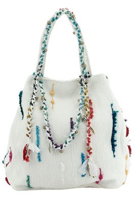 Woven Frayed Edge Oversized Tote