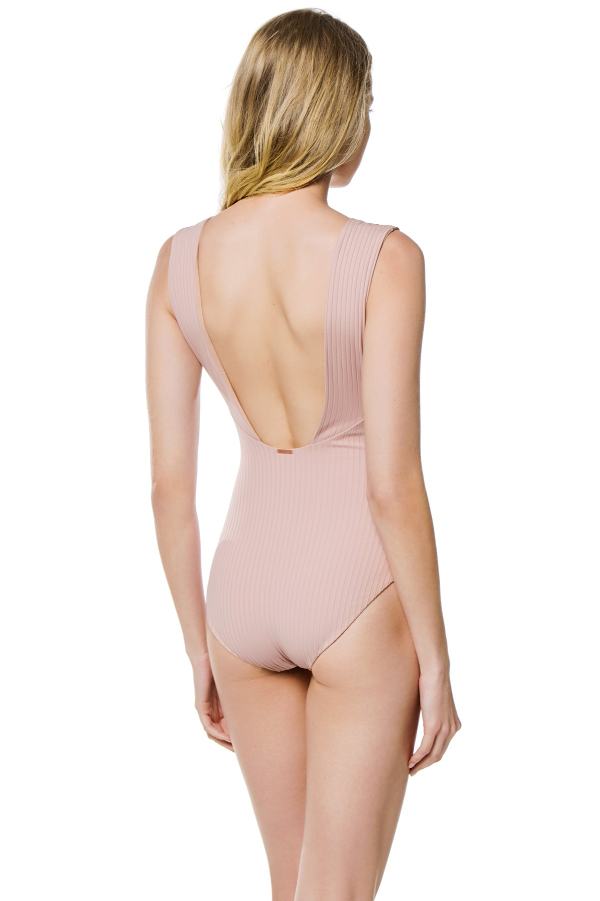 Grove Plunge Over The Shoulder One Piece Swimsuit - Naked Rib 2