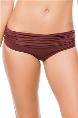 Ruched Banded Hipster Bikini Bottom