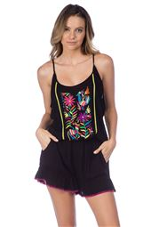 Embroidered Tank Romper
