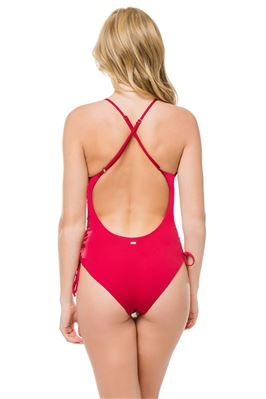 X-Back Over The Shoulder One Piece Swimsuit