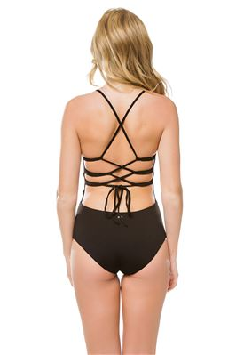 Formentera Plunge Over The Shoulder One Piece Swimsuit