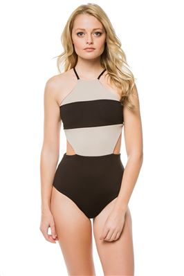 Palm Beach Reversible Over The Shoulder One Piece Swimsuit