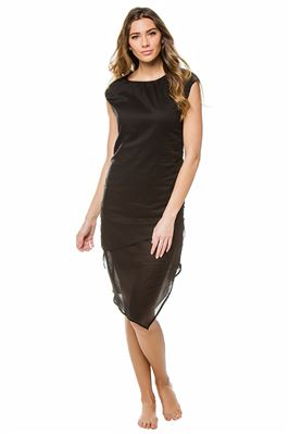 Biarritz Asymmetrical Hem Mid-Length Dress
