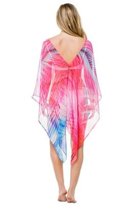 Sheer Open Side Miami Palm Poncho