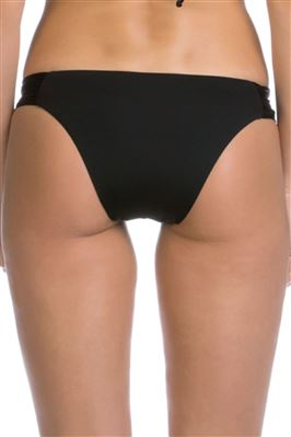 Shirred Tab Side Brazilian Bikini Bottom