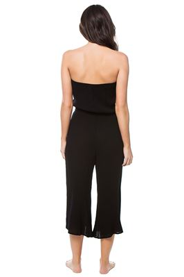 Wide Leg Strapless Jumpsuit
