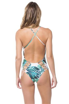 Palma Plunge X-Back One Piece Swimsuit