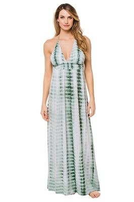 Empire Waist Open Back Maxi Dress