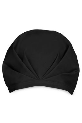 The Noir Solid Black Swim Cap