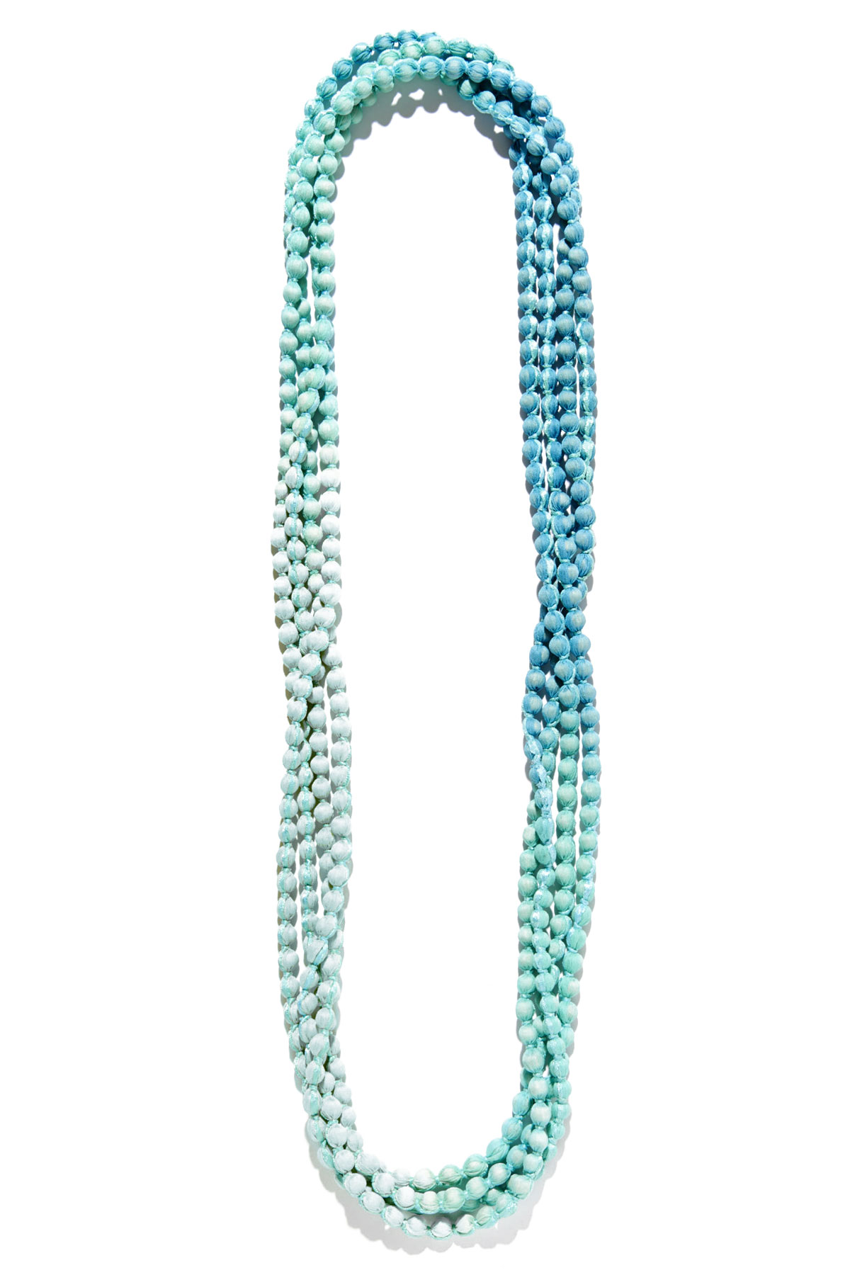 Gudli Ombre Pom Pom Necklace - Turquoise 1