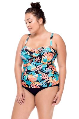 Underwire Bandeau Tankini Top (F-G Cup)