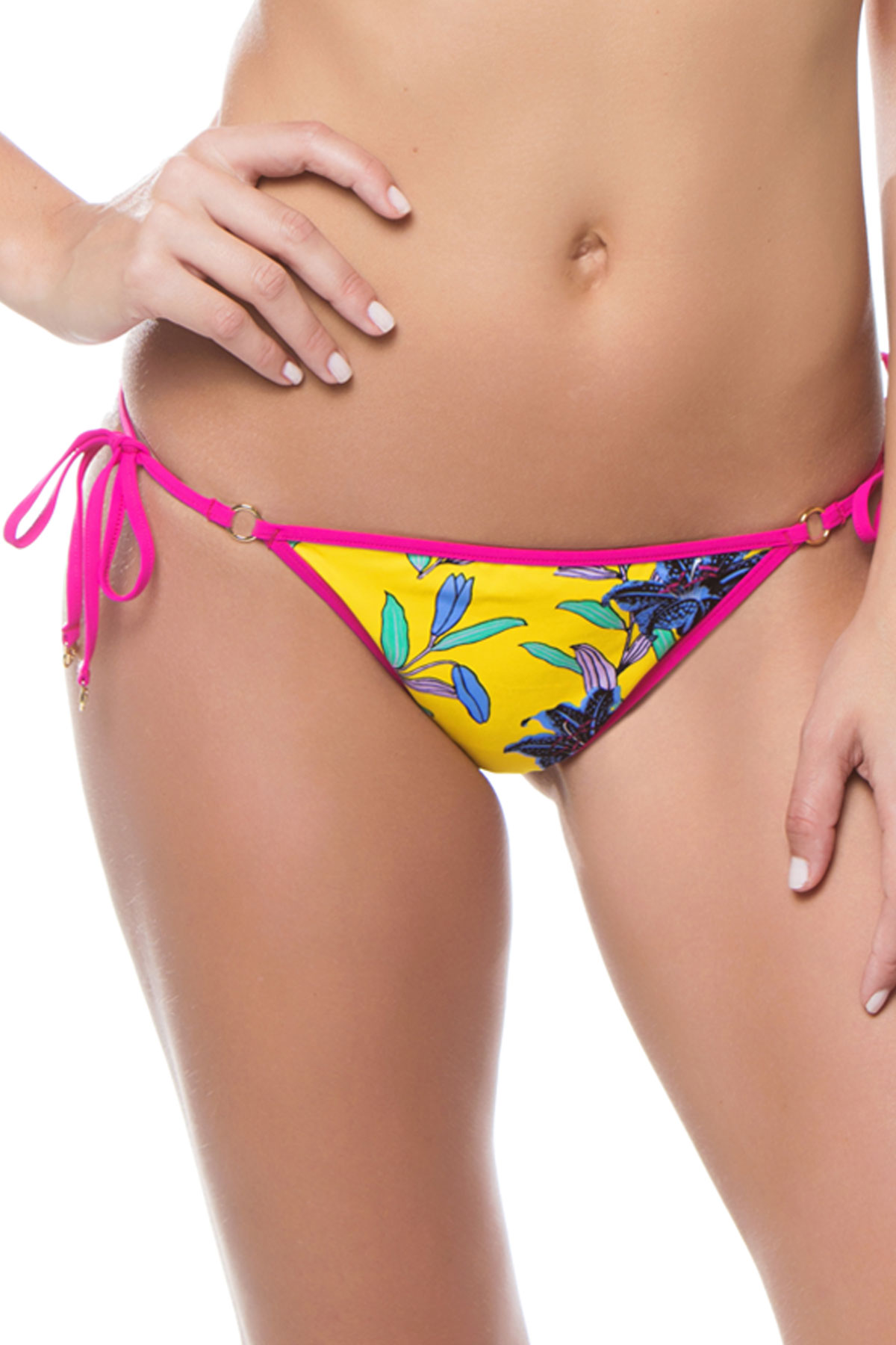 Ring Tie Side Bikini Bottom - Argos Pineapple 1
