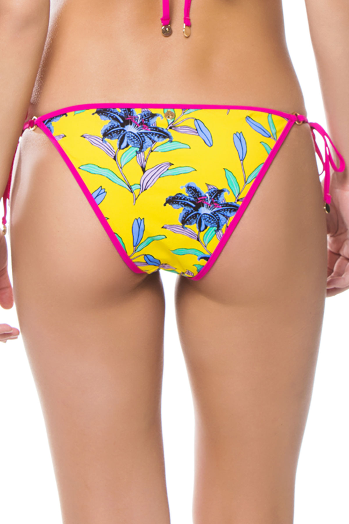 Ring Tie Side Bikini Bottom - Argos Pineapple 2
