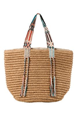 Gemma Woven Natural Straw Tote