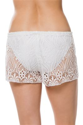 Paisley Lace Tie-Front Shorts