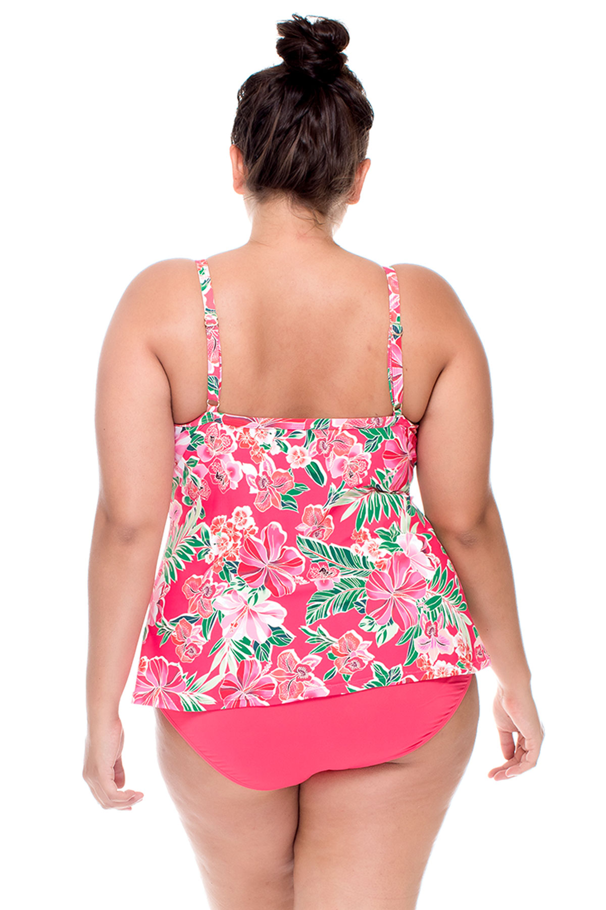Twist-Front Underwire Over The Shoulder Tankini Top (C-D Cup) - Honolulu 2