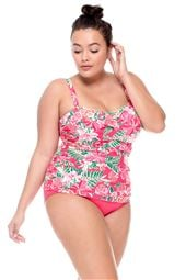 Underwire Bandeau Tankini Top (C-D Cup)
