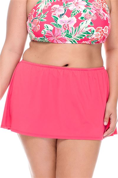 Skirted High Waist Bottom - Lover's Coral - 16
