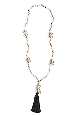 Spaced Cowrie Tassel Necklace