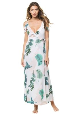 Cara Deep V Wrap Maxi Dress