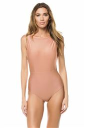 Side Slit High Neck One Piece Swimsuit