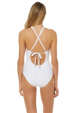 Macrame High Neck One Piece Swimsuit