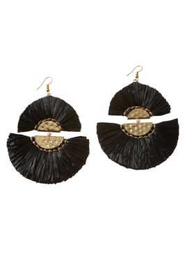 Malisa Fringe Fan Earrings