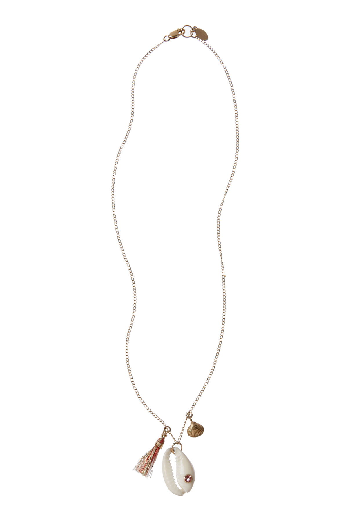 Exclusive Cowrie Charm Necklace - Blush 1