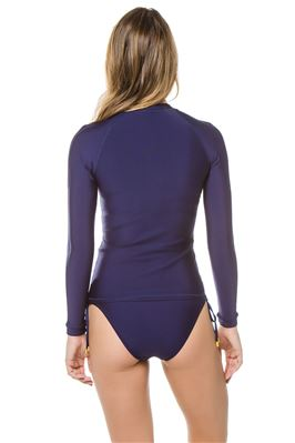 Miramar Zip-Front Long Sleeve Rash Guard