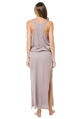 Island Cutaway High Neck Maxi Dress
