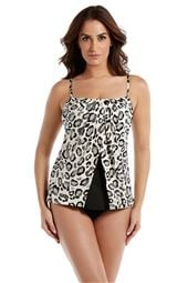 Jubilee Square Neck Over The Shoulder Tankini Top