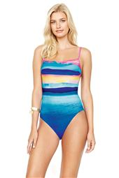 Underwire Over The Shoulder One Piece Swimsuit