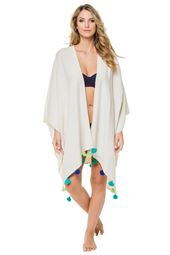 Travel Wrap Multicolored Tassel Ocean Kimono