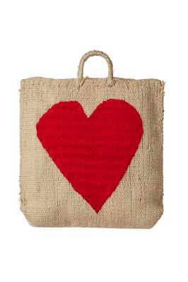 Oversized Heart Handwoven Tote