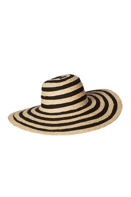 Striped Floppy Brim Sun Hat